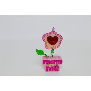 Mom & Me Flower Heart Clip-In Picture Frame